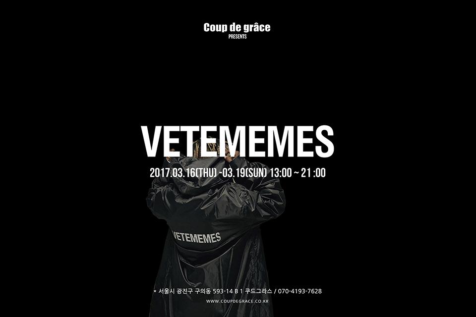 coup de grace, VETEMEMES pop up store main