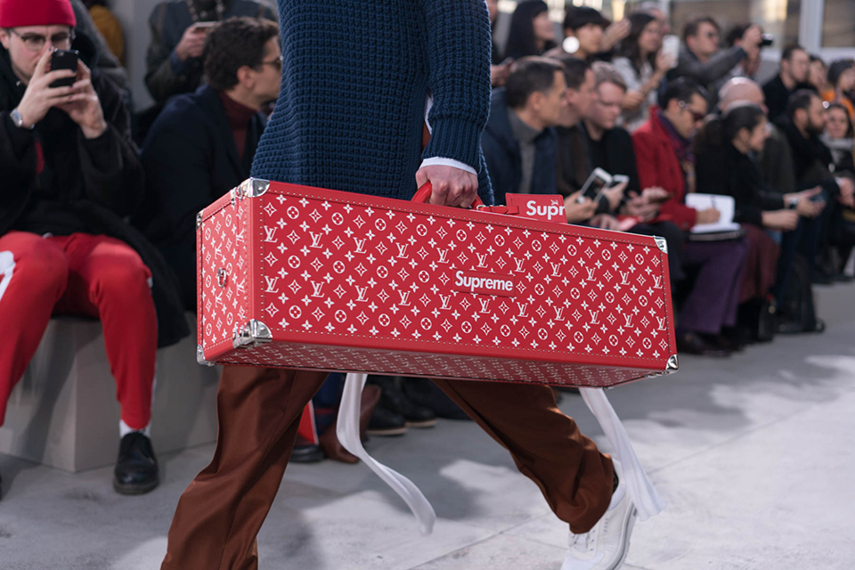 louis vuitton 17 fall, winter collection with supreme main
