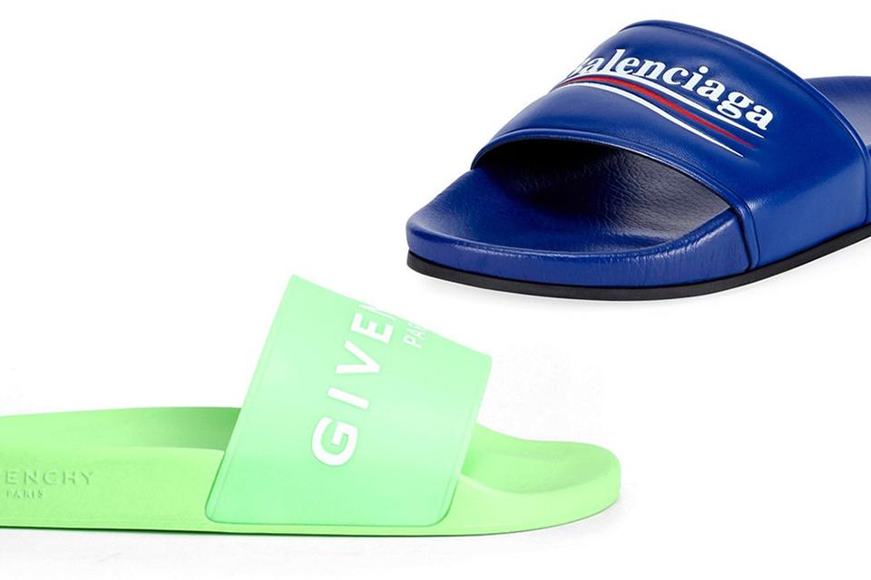 balenciaga-Givenchy-sanders-logo-leather-slides-main